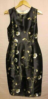 Hope & Ivy Black floral ruffled open back dress 6 VGUC