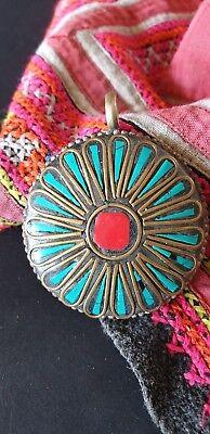 Old Tibetan Necklace Pendant …beautiful accent piece