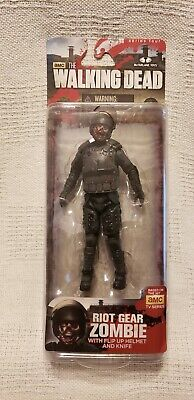McFarlane Toys Action Figure - The Walking Dead Series 4 Riot Gear Zombie. New