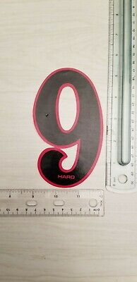 """old school BMX HARO Black w// Red number plate Stadium Numbers # 2 NOS 7/""""  GT"""