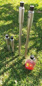 4 x Stainless Steel Outdoor Garden Flares
