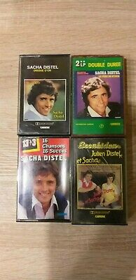 Vintage Lot 4 K7 Cassette audio SACHA DISTEL