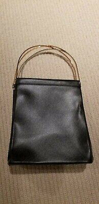 Cartier Trinity Hand Bag Black Leather France Vintage Authentic