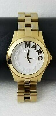 Marc Jacobs MBM3134 Women's Rivera White Dial Gold Tone Stainless Steel Watch