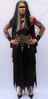 Dracula Costume Women (Gothic Vampire Dramatic Dracula Halloween Costume Cosplay Girls 14 Women XS or)
