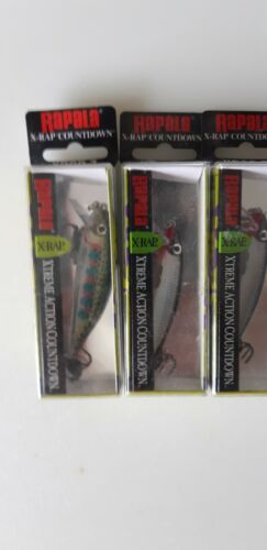 3 Rapala X-Rap Countdown XRCD-7 Silver and Rainbow Trout