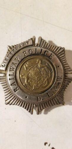 D L & W Railway Railroad Lines lieutenant Badge obsolete