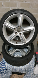 Genuine clubsport wheels & tires Warners Bay Lake Macquarie Area Preview