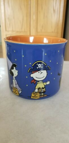 Peanuts snoopy charlie  mug cup halloween fall pumpkin woodstock leaves trick or