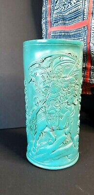 Old Chinese Lacquered Brush Pot / Biton / Vase …beautiful collection & accent pi