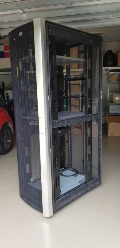 """Computer Server Rack- HPE 10642 G2 42U, Includes """"bundle"""" (shelves and UPS)."""