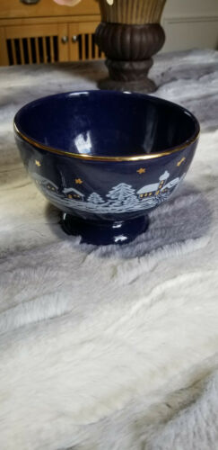 Rare Waechtersbach Germany Winter Dreams Bowl
