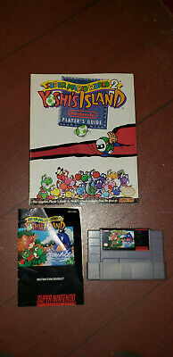 Super Mario World 2: Yoshi's Island (SNES, 1995) w/ Strategy Guide & Manual