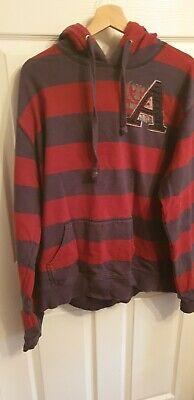Mens Burton Red & Blue Stripy hoodie ~XXL~