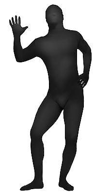 HALLOWEEN  SKIN SUIT BLACK COSTUME MASK - Black Skin Suit Halloween
