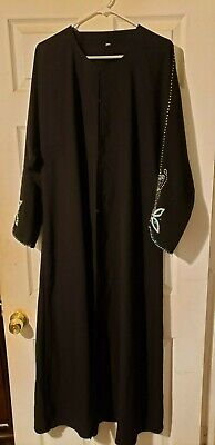 Black Abaya with matching head scarf