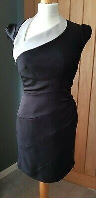 BNWT Stunning KAREN MILLEN Low Back Little Black Wiggle Dress Size 10