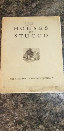 Vintage Advertising Book Houses of Stucco The Atlas Portland Cement Co. (1083)