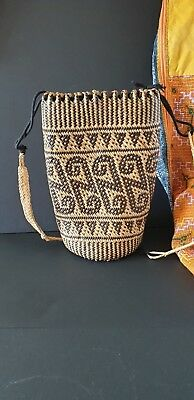 Old Borneo Dayak Woven Backpack / Bag …beautiful accent piece
