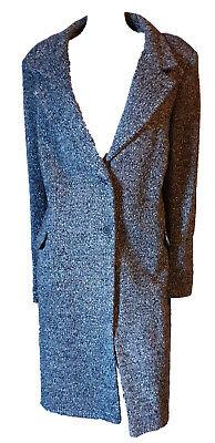 Cappotto Donna Lungo Elegante Classico Blazer Capospalla Morbido Bouclè Tag XXL
