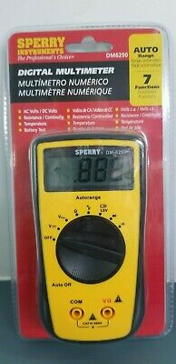 Sperry Instruments Dm6250 Digital Multimeter- 7 Functions. New Sealed Packaging