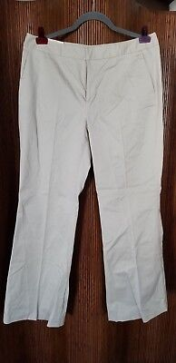 Banana Republic Stretch Beige Cotton Blend Low Waist Martin Pants Women's -