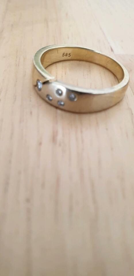 585 Weißgold Ring Größe 56 5 Diamanten Brillianten ca.0,12 Karat in Hamburg