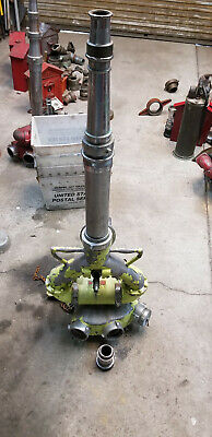 Akron Brass 3 Inlet Deck Gun Firefighting Deluge Water Canon With Nozzle