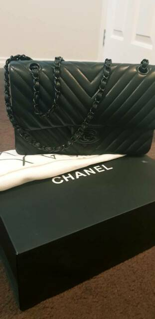 472ba2f8b23a72 Chanel RARE Chevron SO Black 10 | Bags | Gumtree Australia ...