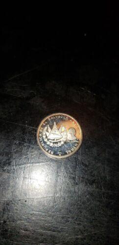 1971 El Salvador Silver 1 Colon CoinSalvador Dali La Fecundidad collectible