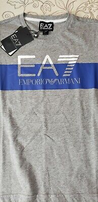 NEW W TAG 100% AUTHENTIC EA7 Emporio Armani Logo T-shirt SIZE 8A 130CM