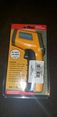 Laser Infrared Thermometer Gun Digital Lcd Temperature Yellow New