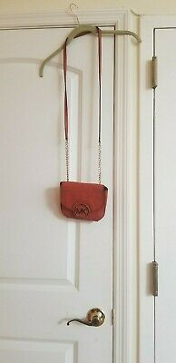 Michael Kors Pocketbook Purse Crossbody Orange Leather