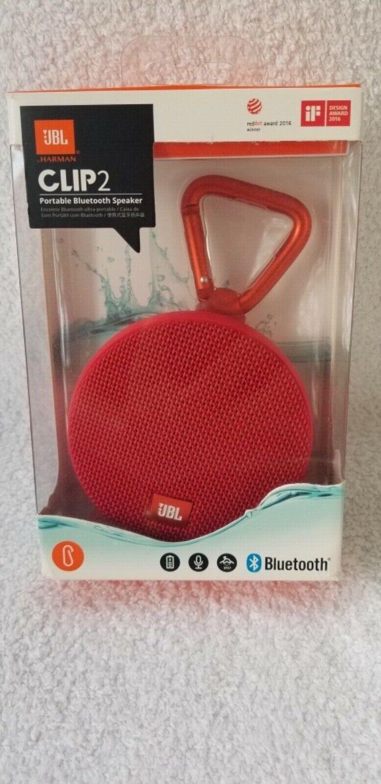 new clip2 waterproof portable bluetooth speaker red