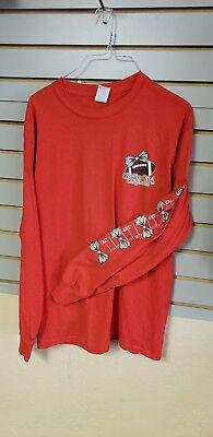 Girlie Girl Red Football Shirt Long Sleeve T Shirt - Medium