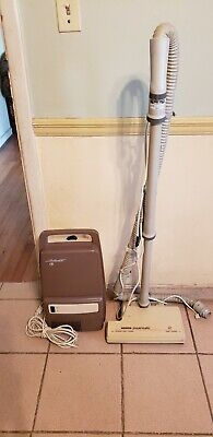 Vintage Hoover Spirit Canister Vacuum Cleaner Model S3433 with Powermatic Head