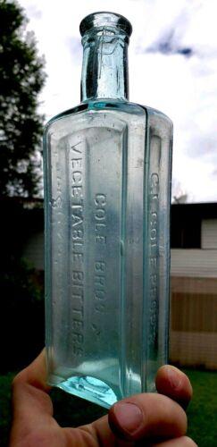 Antique Bitters Bottle Cole Bro