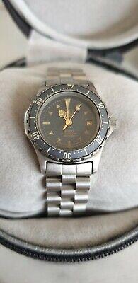 Vintage Tag Heuer 2000 Professional Watch. Quartz 972.608 moondust ladies watch