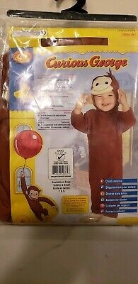 Curious George Costume, Brand New / Child Halloween Costume Size Small 4 to