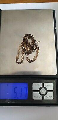 Vintage 9 Carat Italian Gold Herringbone patern Necklace Repair Or Scrap 5.17 g