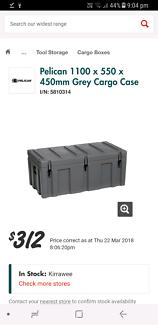 Pelican cargo case ute tool box