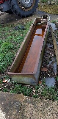 Vintage weathered galvanised 8foot trough. Water tight. Heavy trough. LN4. LINCS