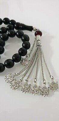 Hm- 11 mm Oltu Gagat Jet Prayer Chain Tesbih Tisbeh Ramadan Ramadan Gift Gift