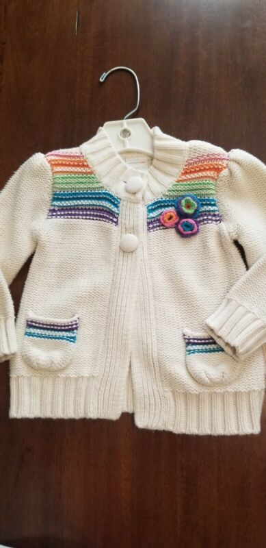 Girls Flower Sweater Size 18 Months