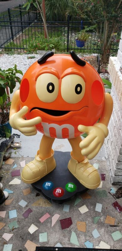 M&M Orange Candy Character Store Display 38 inches tall