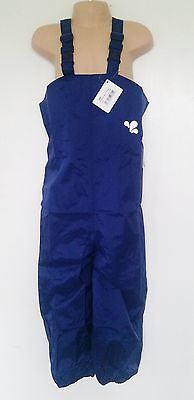 MUDDY PUDDLES navy Originals bib & brace trousers Age 3-4 rrp£18