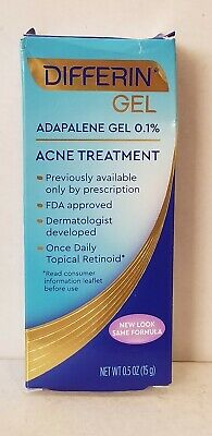 DIFFERIN GEL ACNE TREATMENT 0.5 oz ( 15 g ) Exp : 08 / 2021