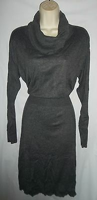 Daisy Fuentes gray sweater career dress Large NWT 68.00