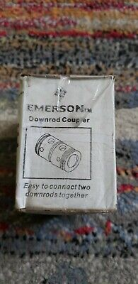 Emerson Downrod Coupler In Antique Brass CFDCAB Antique Brass Downrod Coupler