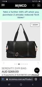 Bnwt gum serenity gym bag black rrp $270